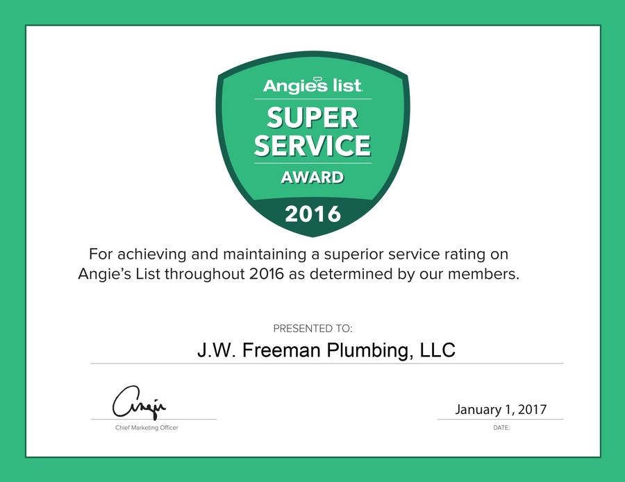 About J.W. Freeman Plumbing